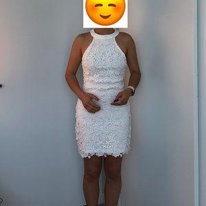 Lulus Ivory Lace Dress XS